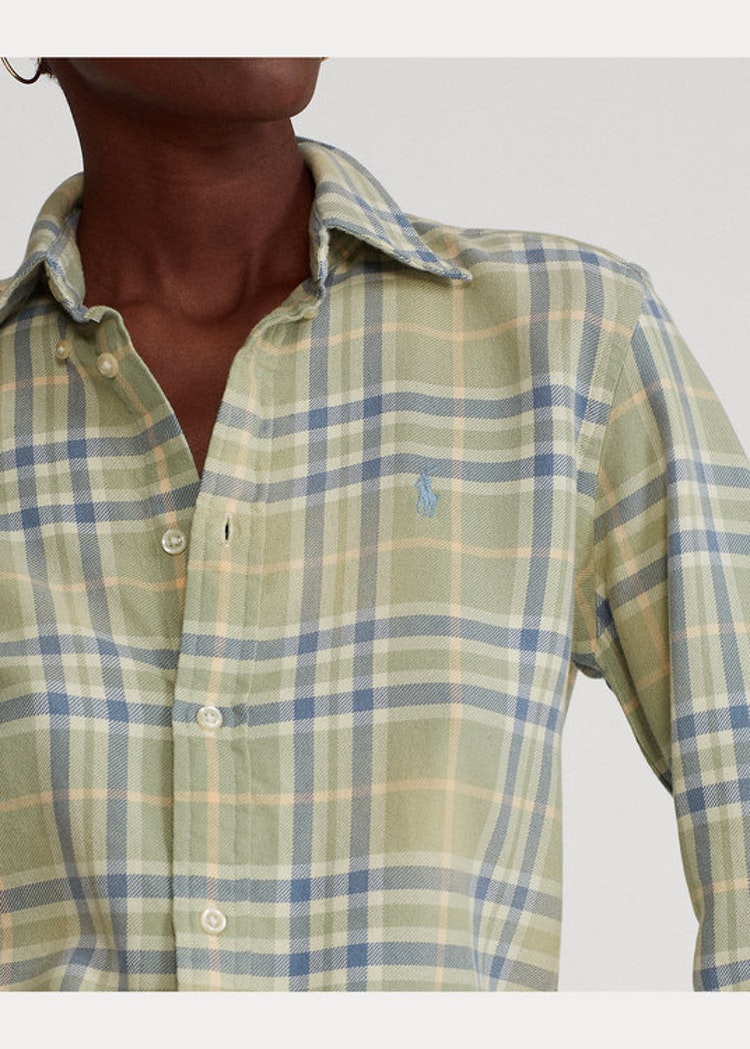 Ralph Lauren - Plaid Cotton Twill Shirt - Cream Plaid