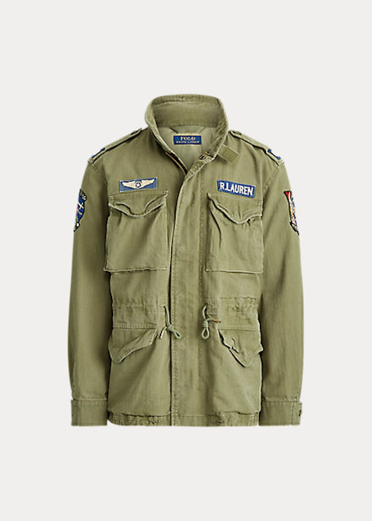 Polo Ralph Lauren - Cotton Twill Field Jacket - Soldier Olive W/ Patches