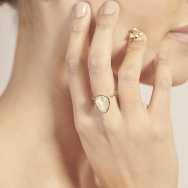 Lily and Rose - Eve raindrog ring - Oyster