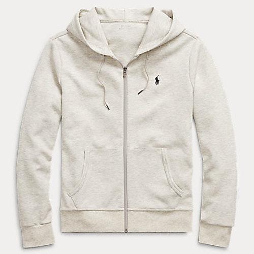 Ralph Lauren - Double-Knit Full-Zip Hoodie - Lt sport heater