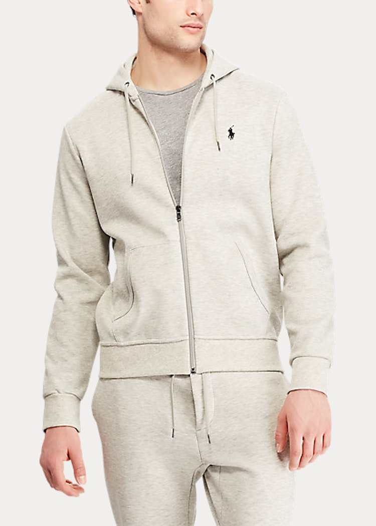 Ralph Lauren - Double-Knit Full-Zip Hoodie - Lt sport heater
