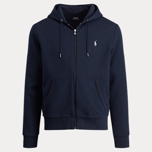 Ralph Lauren - Double-knit full-zip hoodie - Aviator navy