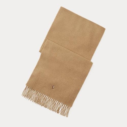Ralph Lauren - Fringed Virgin Wool Scarf - brown hthr