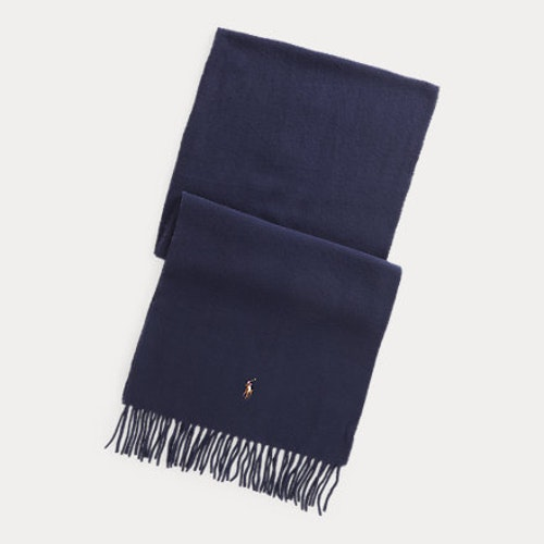 Ralph Lauren - Fringed Virgin Wool Scarf - Cruise Navy