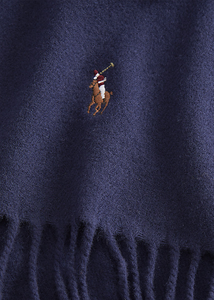 Ralph Lauren - Fringed Virgin Wool Scarf - Cruise Navy