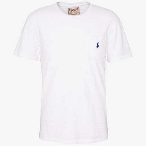 Ralph Lauren - One pocket T-shirt white/blue