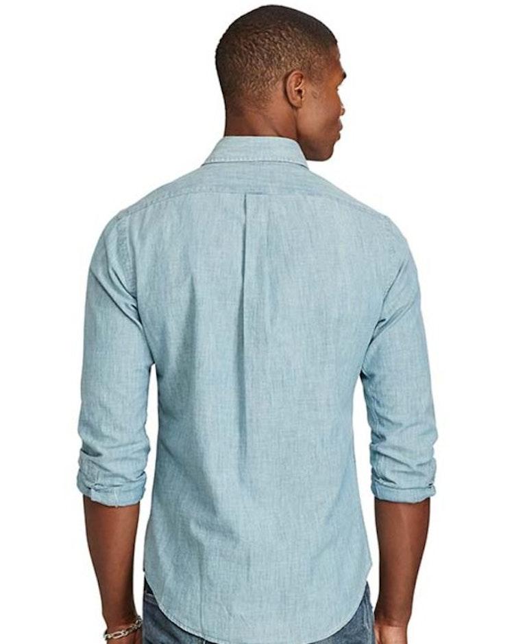 Ralph Lauren - Slim Fit Chambray skjorta blå