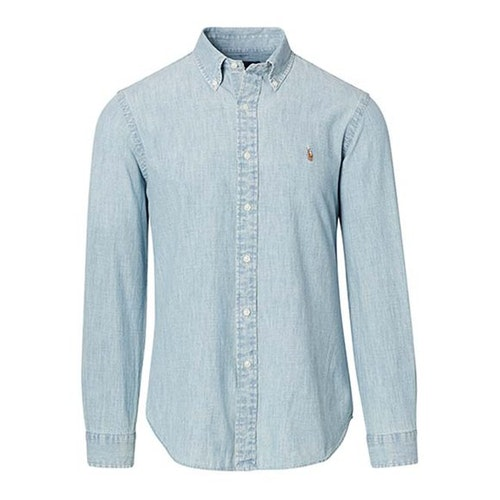 Ralph Lauren - Slim Fit Chambray skjorta blå