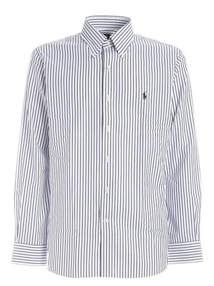 Ralph Lauren - logo stripes shirt blue/white