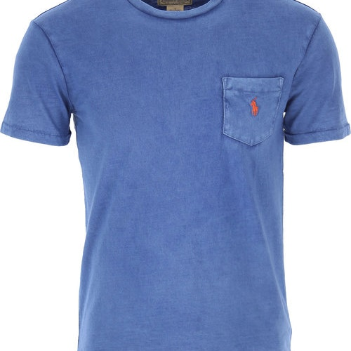 Ralph Lauren - One pocket t-shirt blue/red
