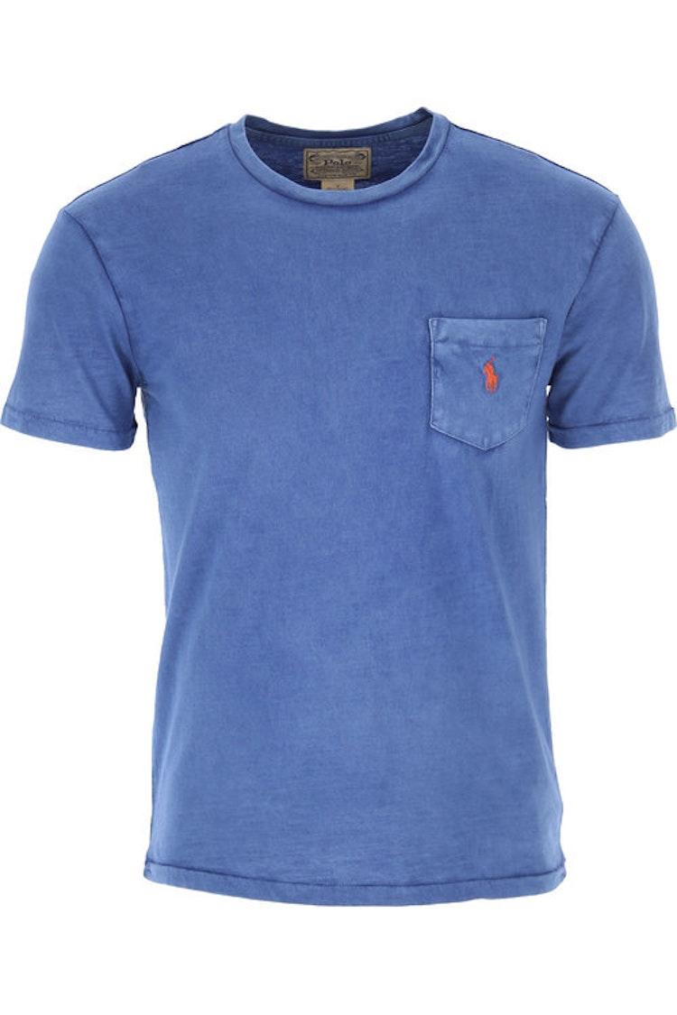 Ralph Lauren - One pocket t-shirt blue/red