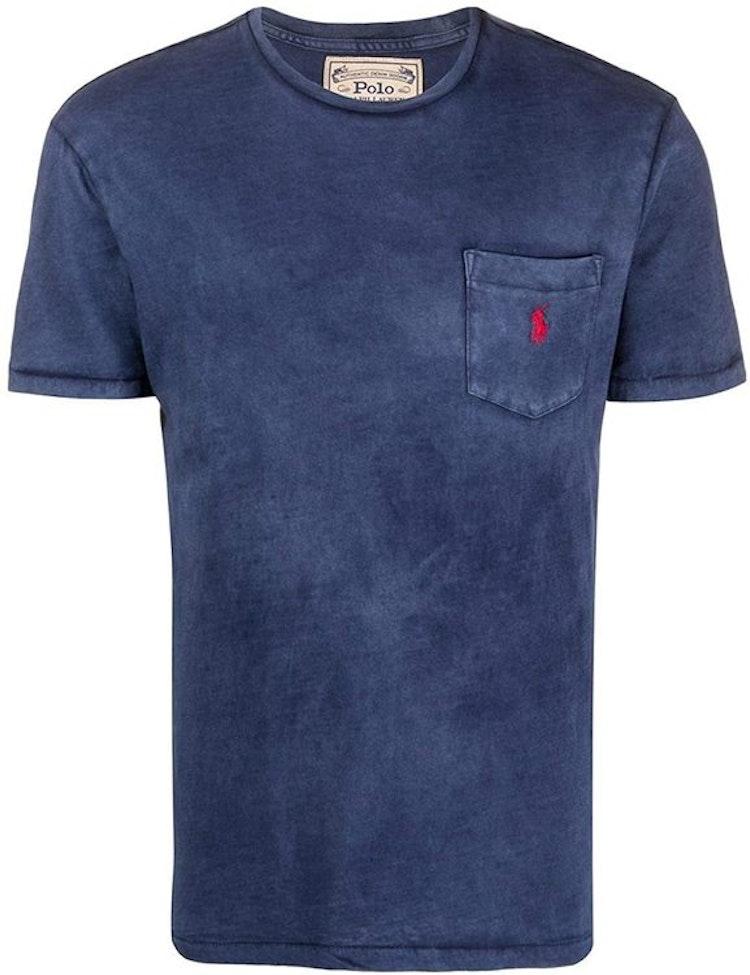 Ralph Lauren - One pocket t-shirt Navy/red