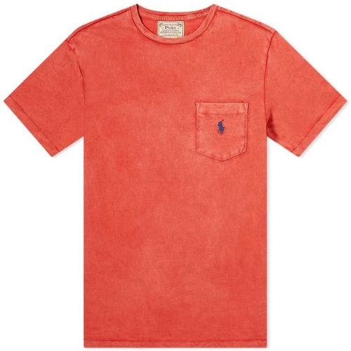 Ralph Lauren - One pocket t-shirt Red/navy