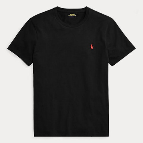 Ralph Lauren - Custom Slim Fit Cotton T-Shirt - Black/red