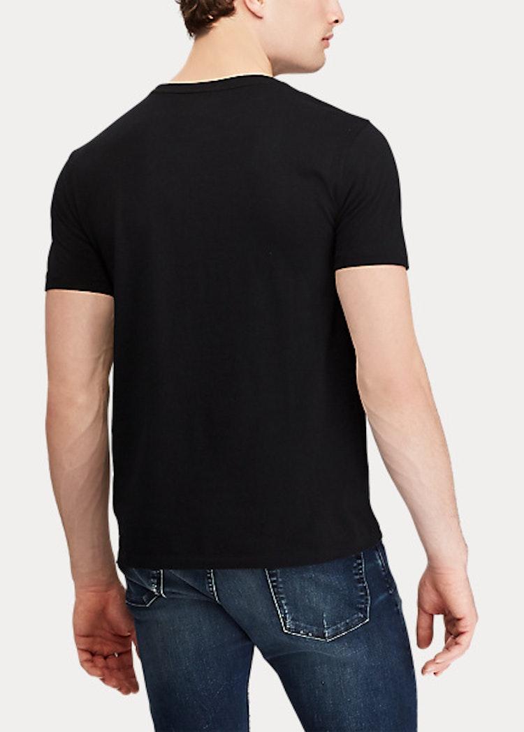 Ralph Lauren - Custom Slim Fit Cotton T-Shirt - Black/red