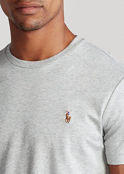 Ralph Lauren - Custom Slim Fit Soft Cotton T-Shirt - Grey