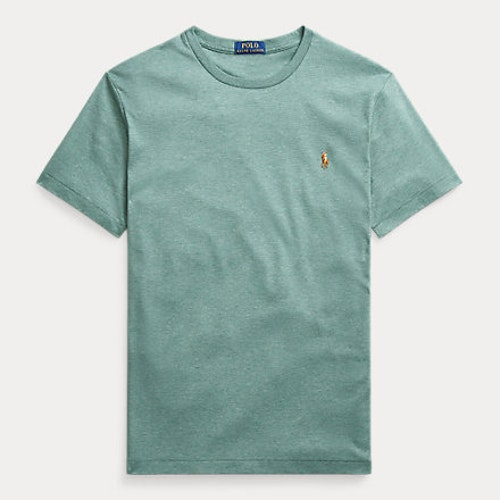 Ralph Lauren - Custom Slim Fit Interlock Tee - Pine Heather