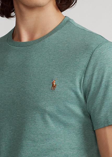 Ralph Lauren - Custom Slim Fit Interlock Tee - Pine Heather