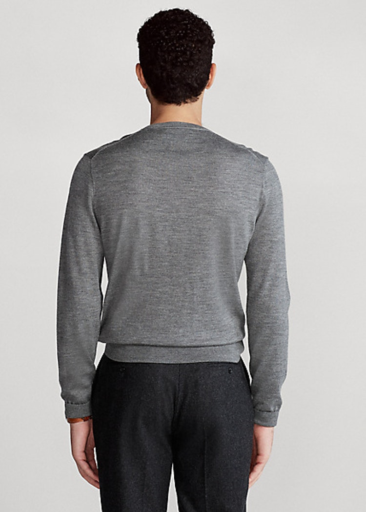 Ralph Lauren - Slim Washable Merino Jumper Grey