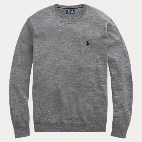 Ralph Lauren - Slim Washable Merino Jumper Grey