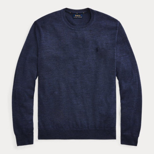 Ralph Lauren - Slim Washable Merino Jumper - Fresco Blue Heather