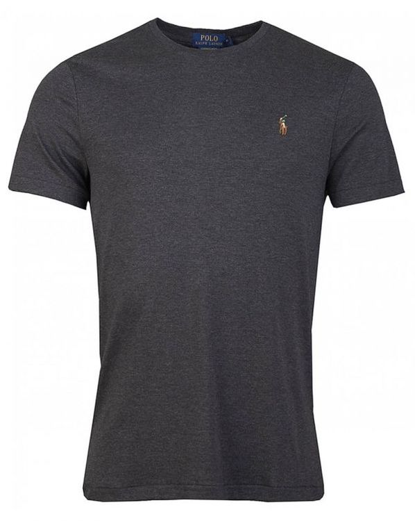 Ralph Lauren - Custom slim fit soft cotton t-shirt - Grey heater