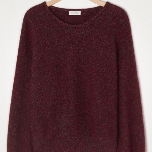 WOMEN'S JUMPER EAST - BORDEAUX CHINE