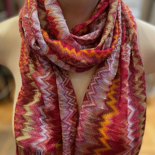Missoni - Multi Colour ZigZag Scarf