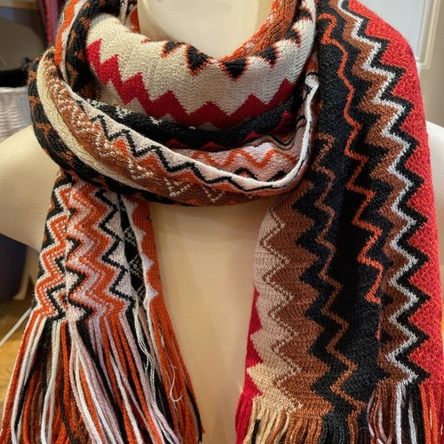 Missoni - Scarf Multi coloured zigzag