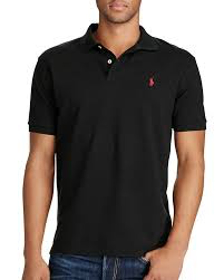 Polo Ralph Lauren - Embroidered logo polo shirt black/red