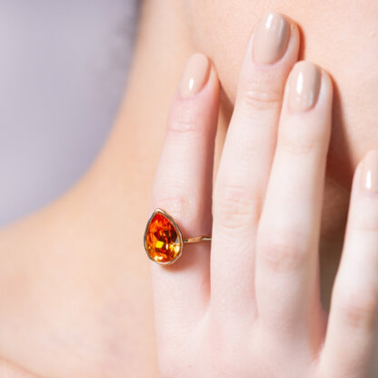 Lily and Rose - EVE RAINDROP RING – MALAWI (GOLD)