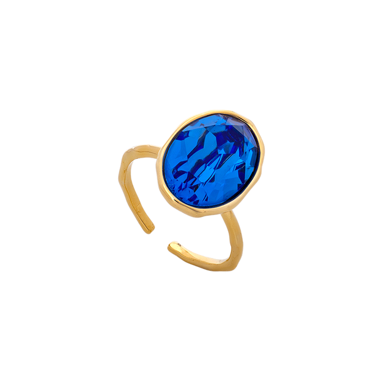 Lily and Rose - ASTRID OVAL RING – SAPPHIRE (GOLD)