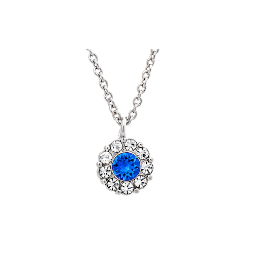 Lily and Rose - PETITE MISS SOFIA NECKLACE – SAPPHIRE (SILVER)