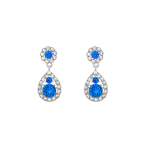 Lily and Rose - PETITE SOFIA EARRINGS – SAPPHIRE (SILVER)