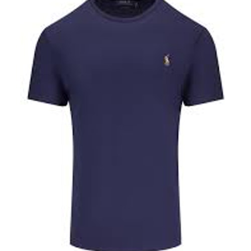 Polo Ralph Lauren Luxury Pima Cotton Crew Neck Tee French Navy