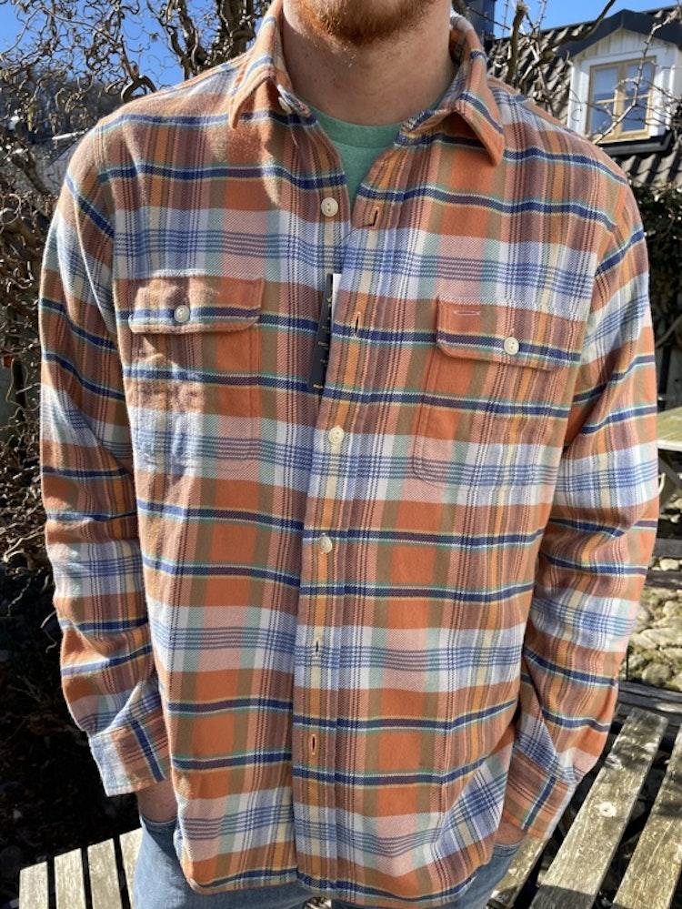 Ralph Lauren - Custom Fit Plaid Twill Workshirt - Orange/Green Multi