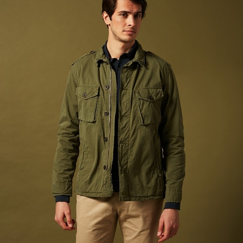 Hartford - Joshua military jacket - Olive green