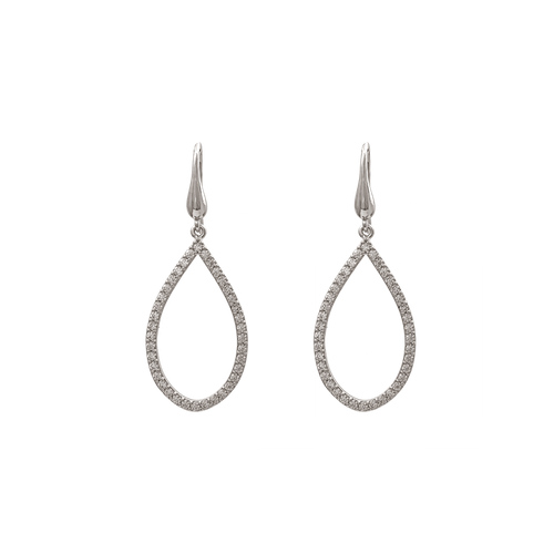 KENNEDY EARRINGS – CRYSTAL (SILVER)