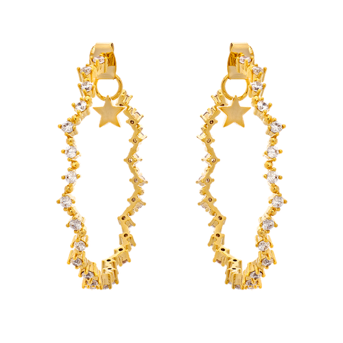 MRS CAPELLA EARRINGS – CRYSTAL (GOLD)
