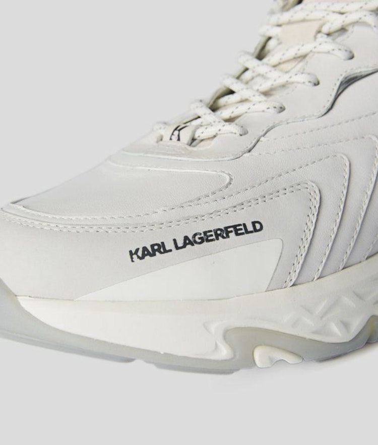 Karl Lagerfeld - BLAZE PYRO LEATHER RUNNER - White