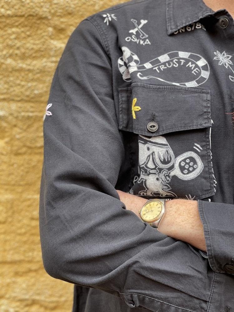 Taylor Tweed - Unisex Pasadena Padel Shirt - Indigo