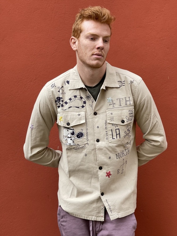 Taylor Tweed - Unisex Pasadena Padel Shirt - Khaki