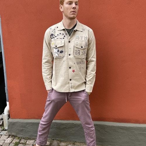 Taylor Tweed - Unisex Pasadena Padel Shirt - Beige