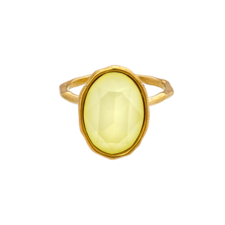Lily and Rose - ASTRID OVAL RING – SUGAR LEMON