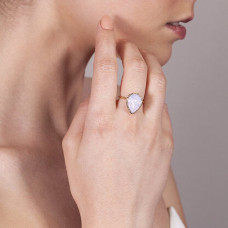Lily and Rose - EVE RAINDROP RING – SUGAR PINK