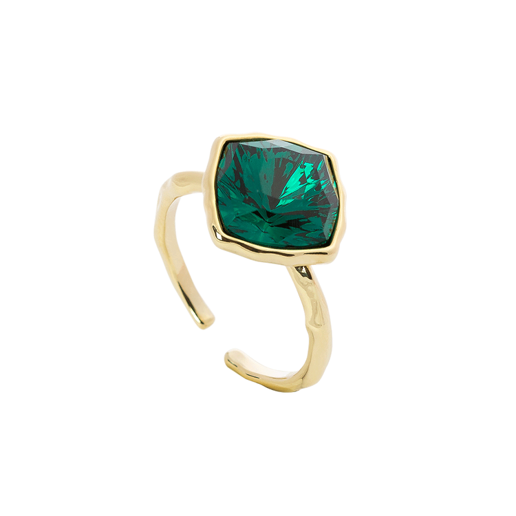 Lily and Rose - LOVA SQUARE RING – EMERALD