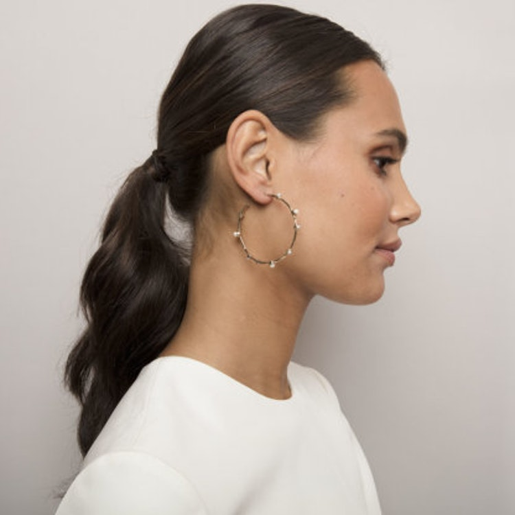 Lily and Rose - JAGGER EARRINGS – IVORY (GOLD)