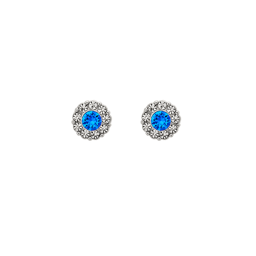 Lily and Rose - PETITE MISS SOFIA EARRINGS – SAPPHIRE (SILVER)