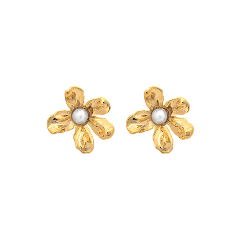 Lily and Rose - PETITE EPONINE EARRINGS – IVORY PEARL (GOLD)