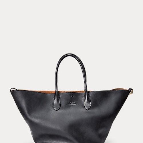 Polo Ralph Lauren - Leather Large Bellport Tote - Black